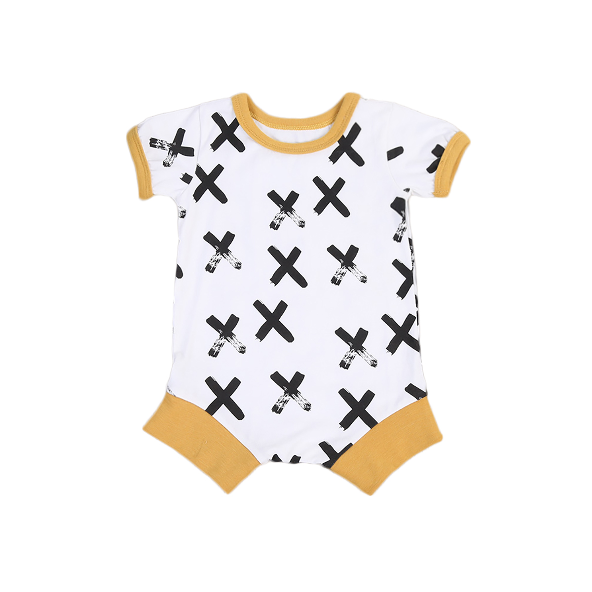 2017 Summer Rompers Newborn Baby Boy Jumper Jumpsuit Toddler Boys Short Sleeve O-Neck Playsuits Infantil Baby Outfits Clothes