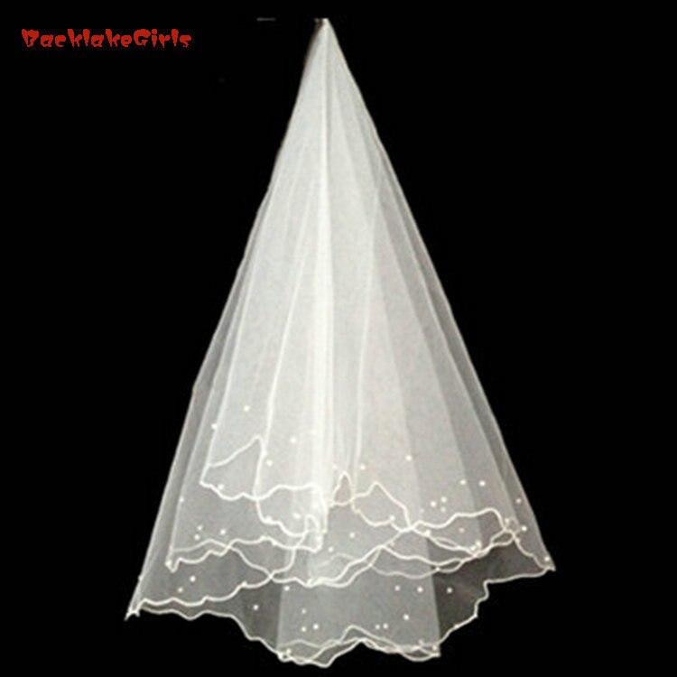 White Ivory Bridal Veils 1.5 M Wedding Veil One Layer No Comb Bride Bridal Veil 2018 Wedding Accessories Bridal Veil