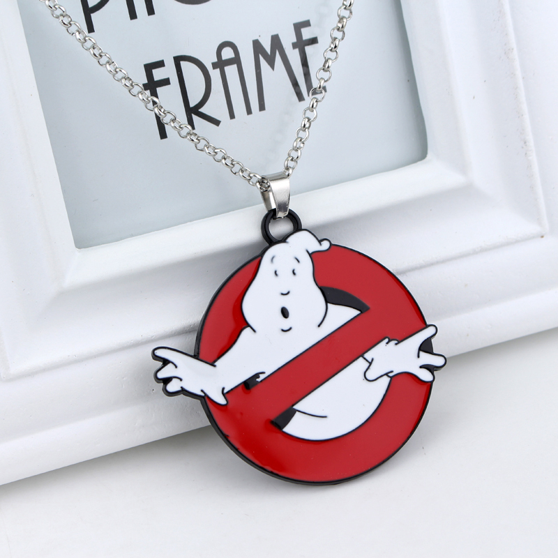 Hot Movie Ghostbusters Necklace Film Cosplay Metal Alloy Jewelary Pendant neckless Wholesale 12pc/lot