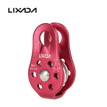 Lixada Outdoor Travel Climbing Kits Rope Pulley Single Fixed Pulley Mountaineering Rope Climbing Rappelling Survival Equipment gm climbing pulley 32kn ce uiaa large rescue double sheave pulley for tree climbing arborist survival mountaineering equipment