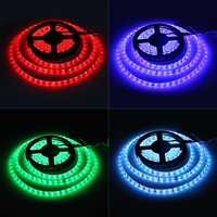 Colorful 5m 72W SMD 5050 300 LEDs RGB Ribbon Light IP65 Waterproof Strip Lamp Kit 12V 5A magic household DIY light for Decor