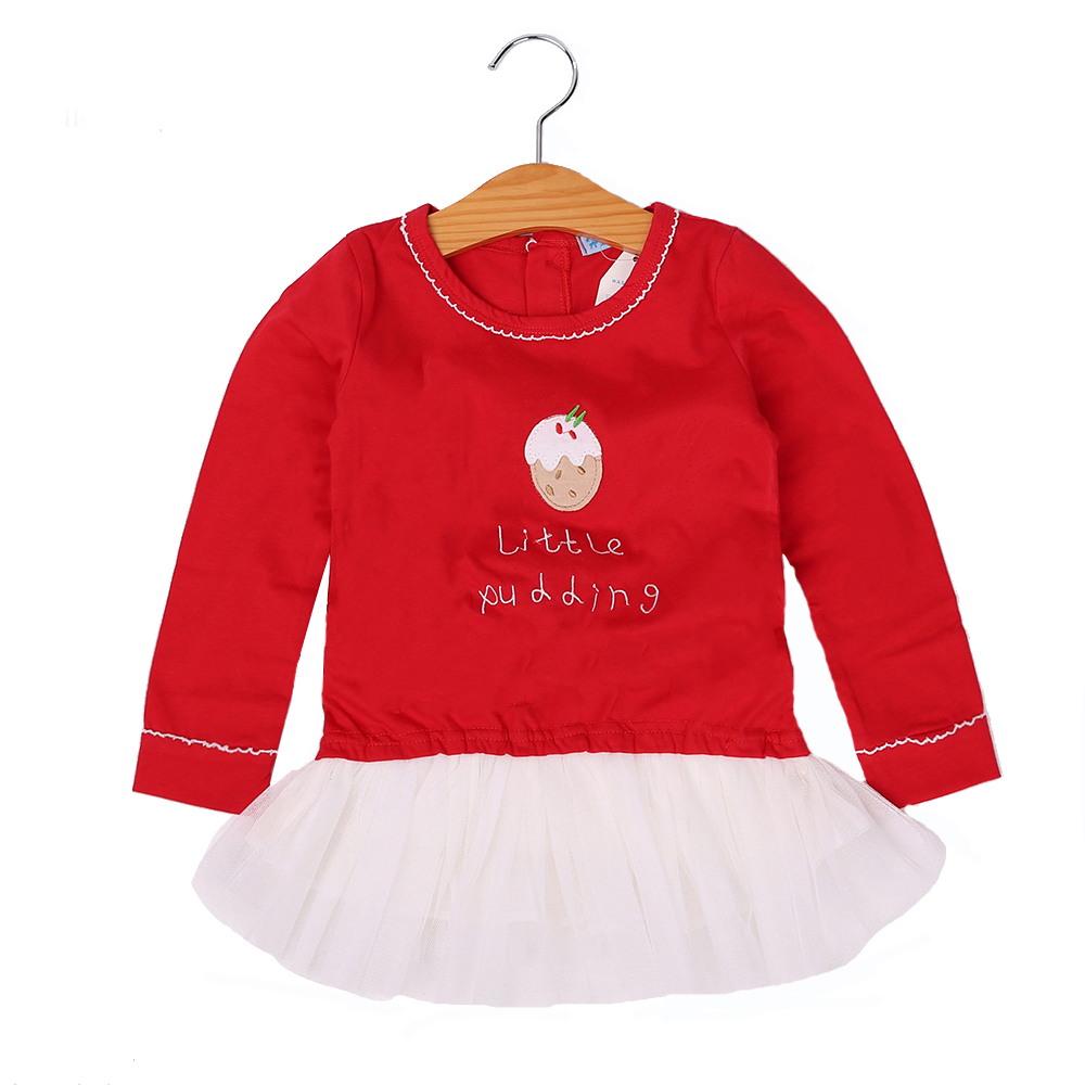 4c1749d9546c Toddler Girl Dresses New Year Costumes For Kids Clothes Christmas Red Baby Dress  Long Sleeve Letter Party Princess Dress