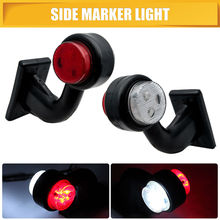 цены 2pcs 12 LED Side Marker Indicator Light Lamp Side Marked Lamp For Truck Lorry Caravan Trailer 12/24V Red White