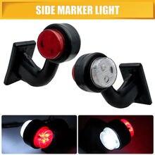 2 шт. 12 Светодиодный сбоку индикатор отметки свет лампы сбоку маркированная лампа для грузовик грузовой фургон прицеп 12/24 V красный, белый
