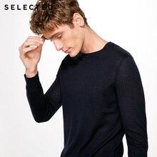 SELECTED Мягкий трикотажный свитер из натуральной шерсти мерино с V-образным вырезом для мужчин