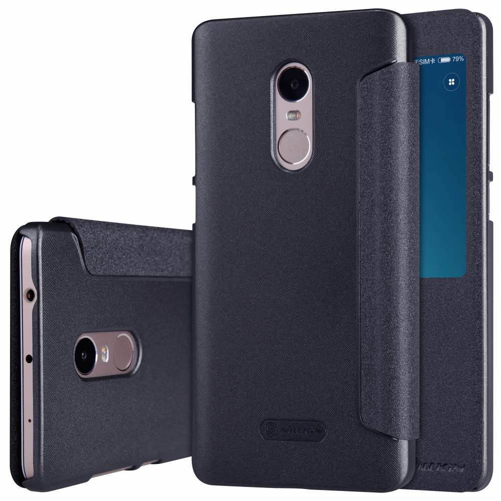 Case for xiaomi redmi note 4 case cover 5 5 inch nillkin pu leather case flip cover smart wake - Xiaomi redmi note 4 case ...