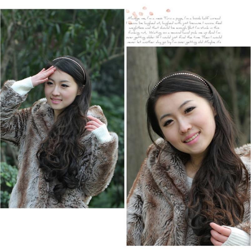 New Hot Korean Sample design Imitation Pearl Hair Band Girls Hair Accessories Women Headband Wedding Party Bridal Hair Hoop