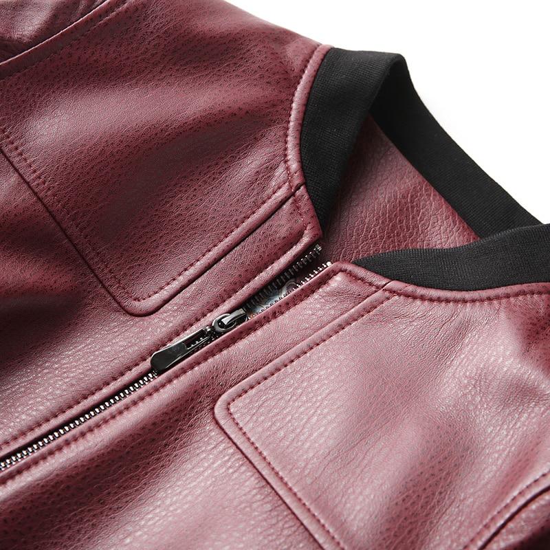 Automne Femmes Coréenne Vestes Véritable En Cuir Veste Court Mujer Biker Chaqueta Red Vintage De Mouton Manteau Hiver My2056 Peau Wine tqt0zxrW