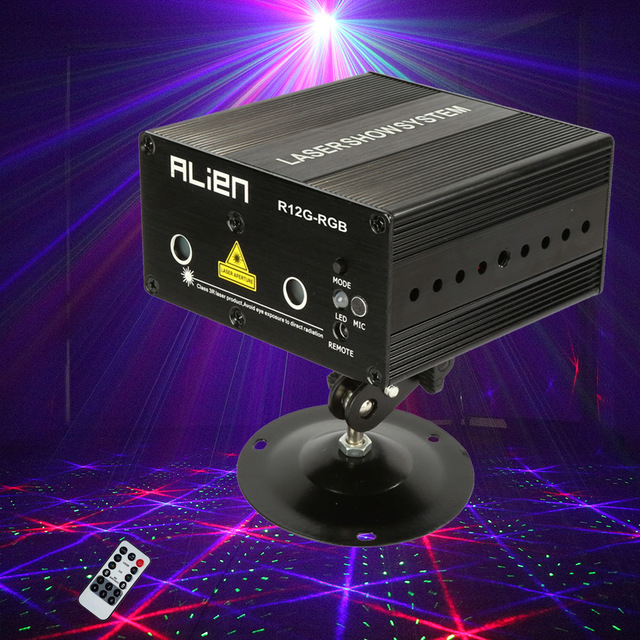 Mini Rgb Laser Light Show Projector Portable Home Party Disco Lights Luces Discoteca Lumiere Lamp Dj
