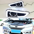 1 Set LED DRL Daytime Running Lights With White Colour Light for HONDA CITY 2015-2017