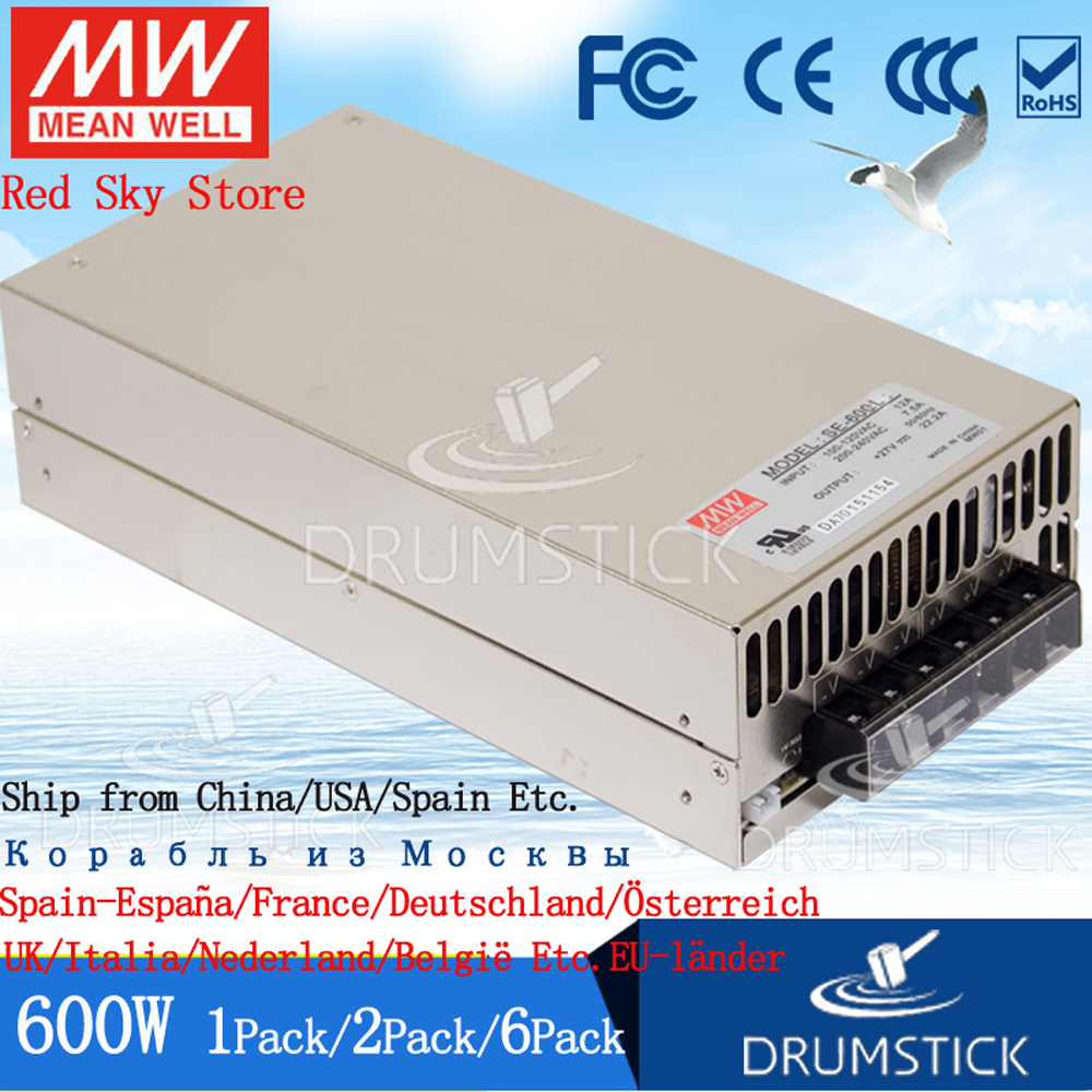 Steady Meanwell 600W Power Supply SE-600-24V/48V Display LED light strip Monitor High Power stabilized DC 25A/12.5A industrial