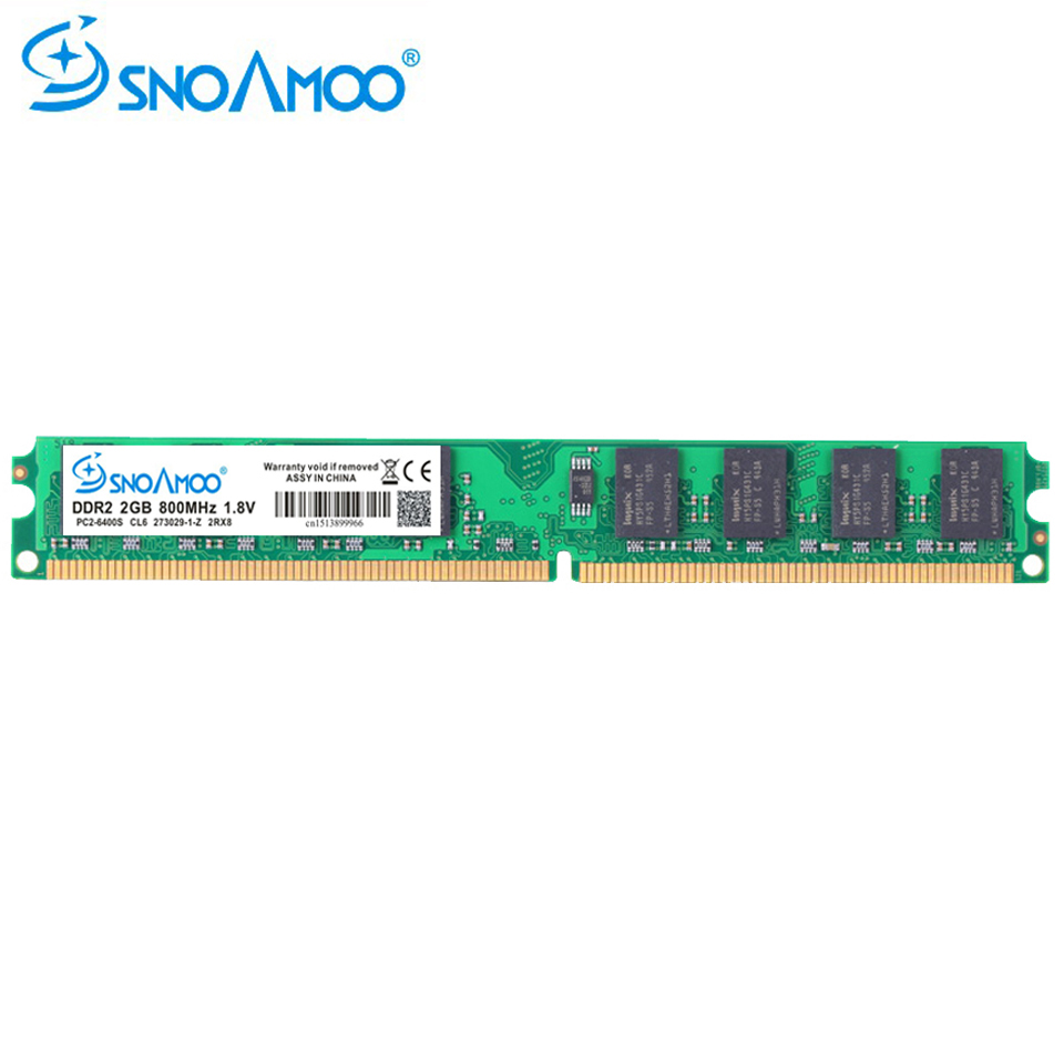 SNOAMOO Desktop PC RAMs DDR2 1G/2GB 667 PC2-5300s 800MHz PC2-6400S DIMM Non-ECC 240-Pin 1.8V For Intel Computer Memory Warranty