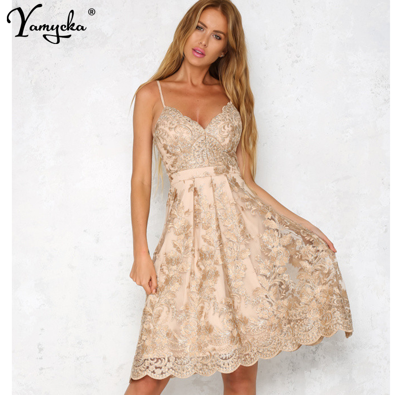Sexy Lace Embroidery Summer Dress women Vintage Off Shoulder Backless Dress elegant Spaghetti Strap Casual Party Dresses Vestido in Dresses from Women 39 s Clothing