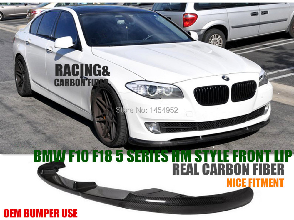 Rear Splitter Lip Carbon Fiber fit BMW E60 528i 535i 550i w// OEM M Tech Bumper