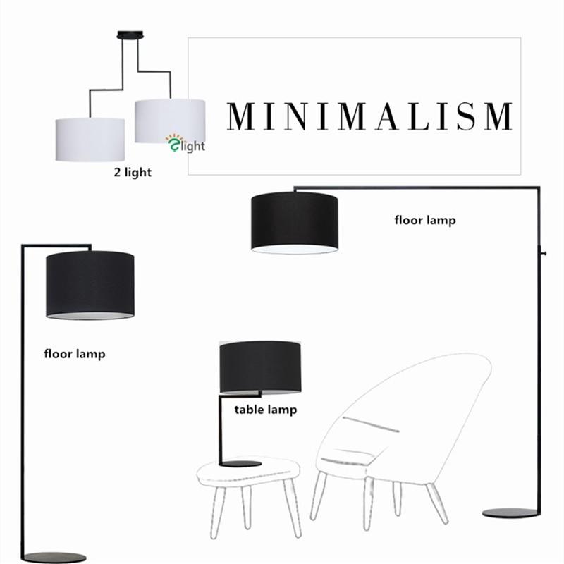 Modern Minimalism Led Floor LampLiving Room Lustre E27 Fabric Shades Floor Lamp Lighting Indoor Light Fixtures