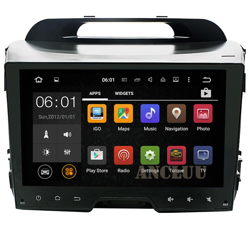 9 inch 2 Din Android <font><b>car</b></font> gps navigation for KIA sportage r/Sportage 2010 2011 2012 2013 2014 2015 <font><b>Car</b></font> radio BT 3G Wifi canbus