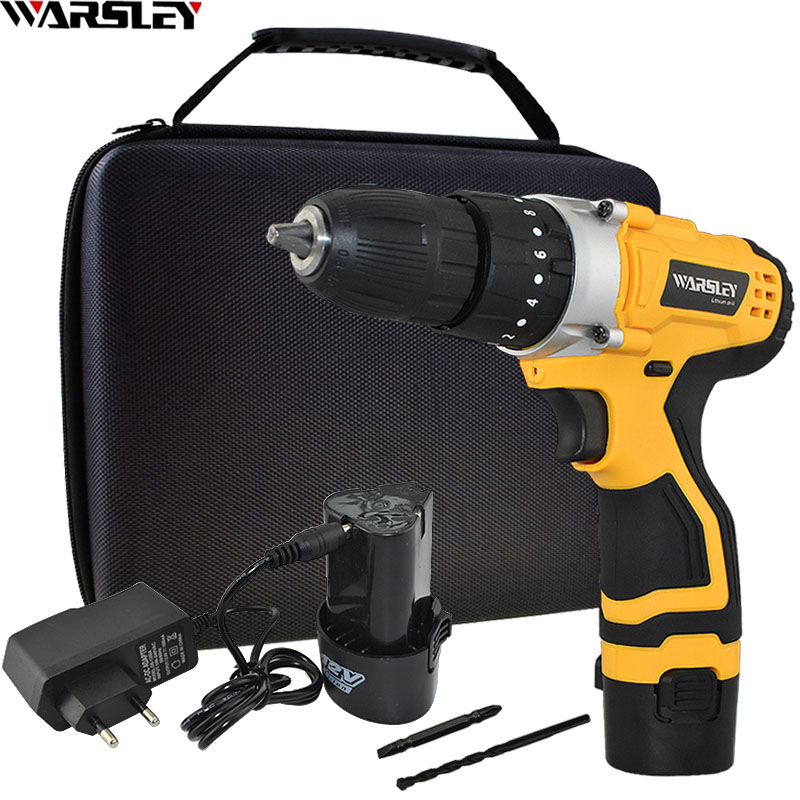 Rechargeable 1 5Ah Lithium Battery 12V Impact Drill Home DIY Power Tools Electric Screwdriver Electric Drill
