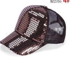 50 шт./лот Federal Express быстро в Корейском стиле повседневные платья Регулируемый блестками Бейсбол Кепки для мальчиков и девочек спортивная шапочка - Цвет: 1