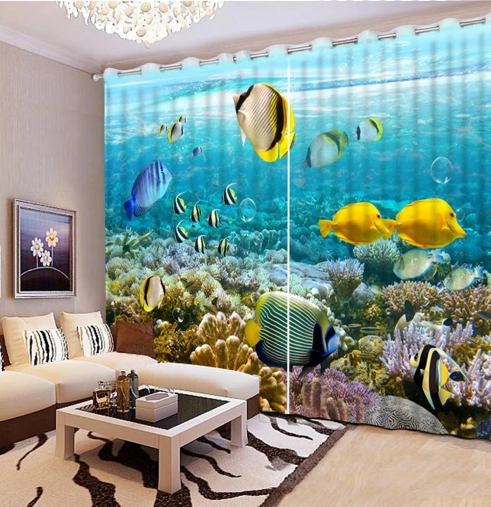Modern Home Decor Fashion Decor Home Decoration For Bedroom Aquarium Fish Coral Photo Curtains Modern Curtains For Bedroom Curtains For Fashion Curtaincurtains For Bedroom Aliexpress