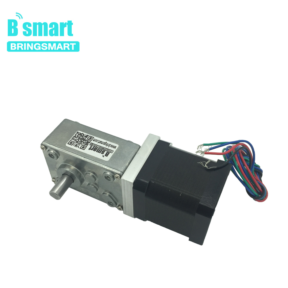 Bringsmart Worm Gear Motor.12v DC Stepper Motors Reducer Self-locking Mini Gearbox 24 volt Micro Electric Tool A58SW-42BYBringsmart Worm Gear Motor.12v DC Stepper Motors Reducer Self-locking Mini Gearbox 24 volt Micro Electric Tool A58SW-42BY