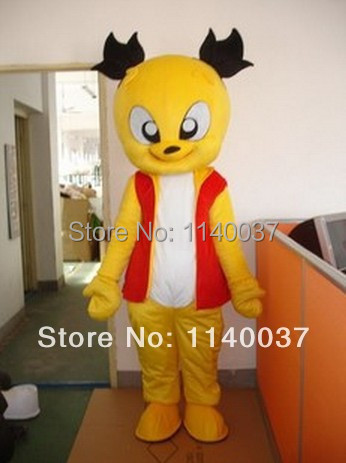 mascot Professional Yellow Cat Mascot Costume Bobcats Cartoon Character Mascotte Outfit Suit EMS FREE SHIP