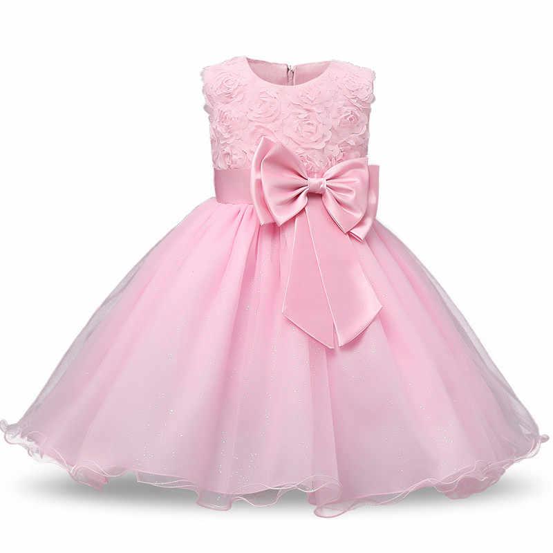 766437c5e9a60 1 Year Baby Girl Dress Princess Girls Tutu Dress Toddler Kids Clothes  Baptism 1st First Birthday Party Frocks vestido de bebes