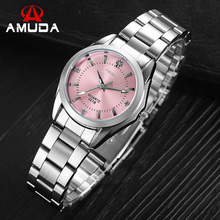 AMUDA Marque Femme Robe Strass Montres Dames De Mode Casual Quartz-montre-Bracelet Montres Relogio Feminino