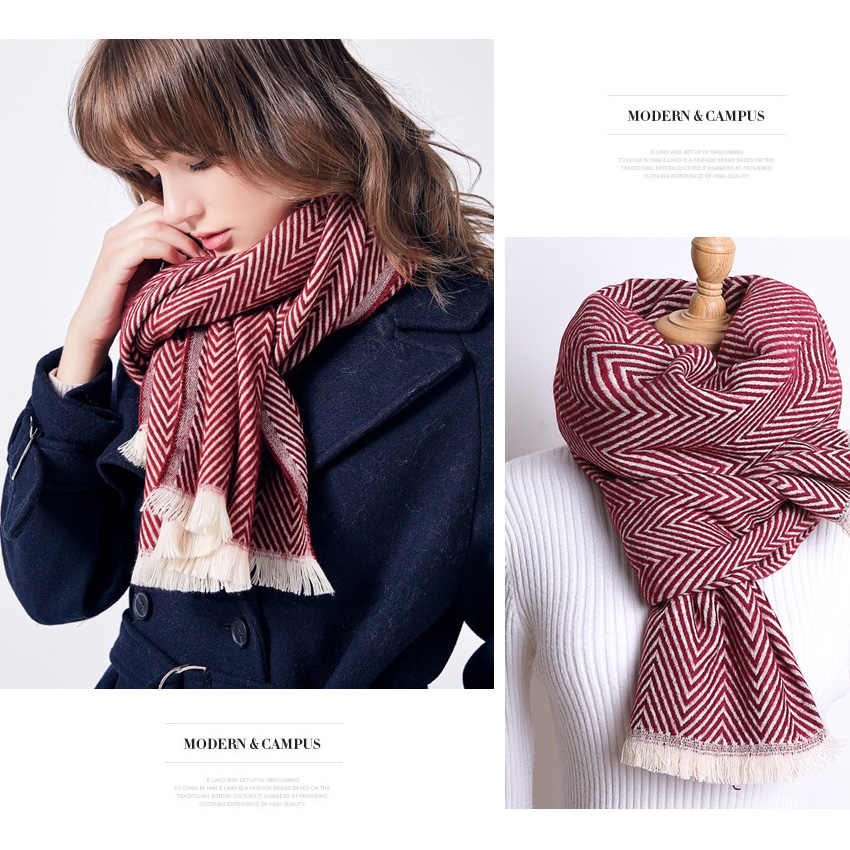 Bufanda de invierno de marca VIANOSI para Mujer, capa de algodón sjaal, gruesa, suave, famosa bufanda, bandana de moda para Mujer