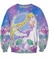 Nova moda outono princesa sailor moon serenidade Crewneck camisola impressão 3d mulheres/homens pulôver camisa longa crewneck