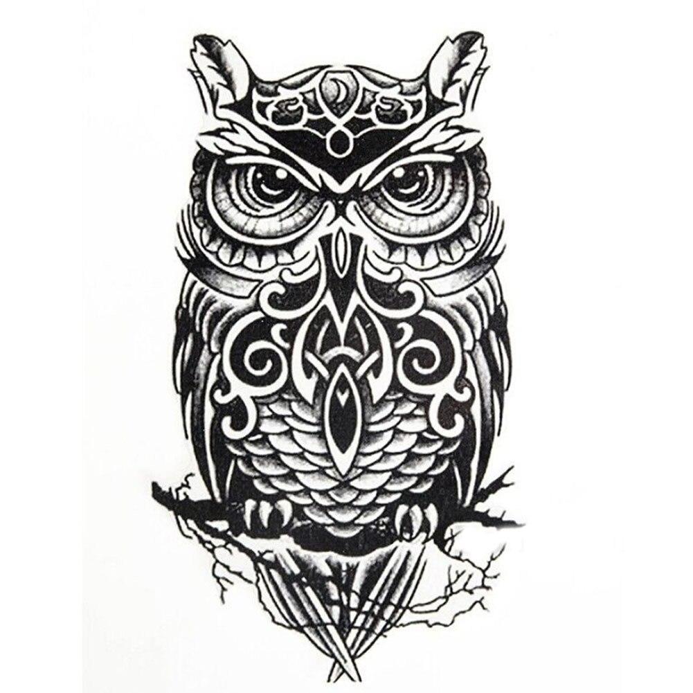 Сова Водонепроницаемый Временные татуировки Для мужчин wo Для мужчин Красота животных временные tatuajes temporales наклейки поддельные татуировки maquiagem