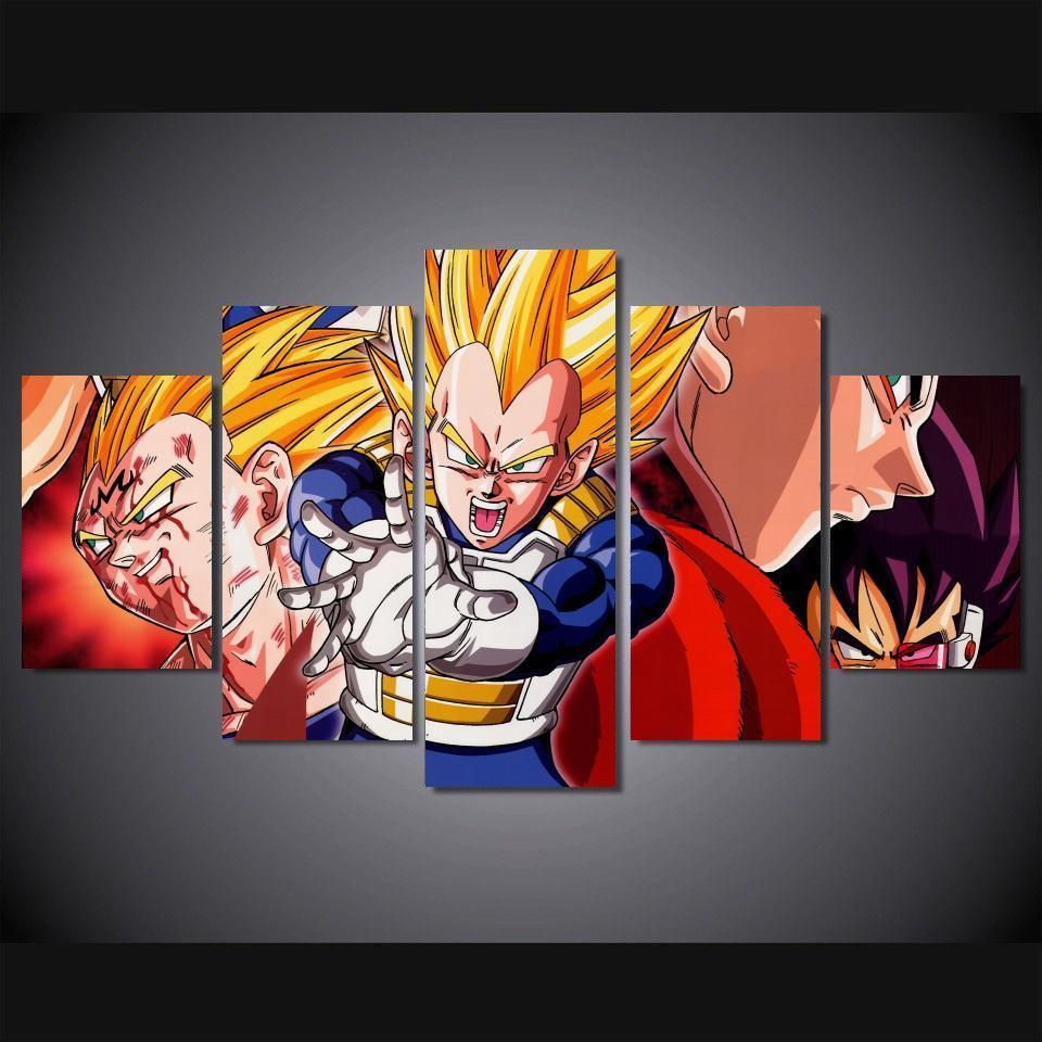5 Panele Wall Art 5 Panele Wall Art Dragon Ball Z Goku Saiyan Obrazy