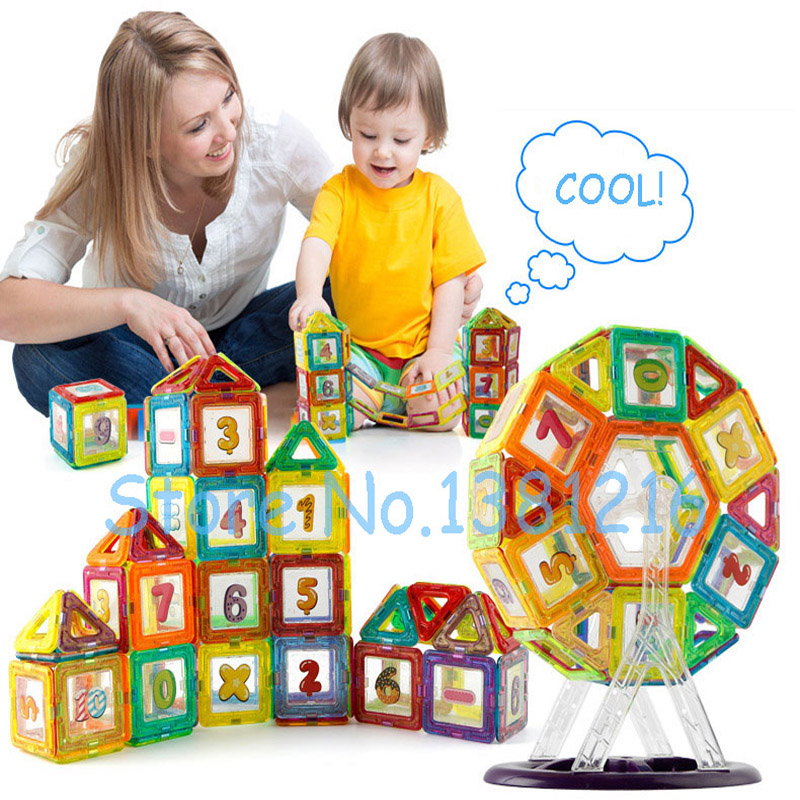2 Styles Magnetic Building Blocks Models & Building Toy Magnet Plastic Technic Bricks Learning & Educational Toys For Children magnetic toy 77pcs mini magnetic models