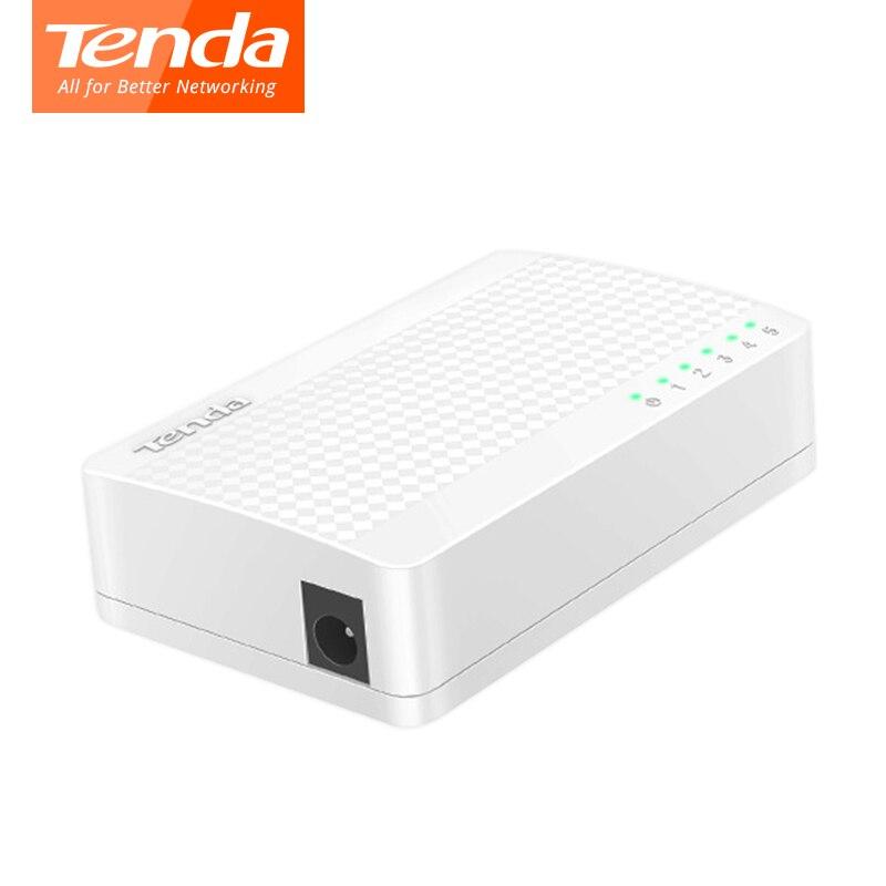 Tenda S105 interruptor de Ethernet de 5 puertos de 10 m/100 M RJ45 puerto de red de interruptores de dúplex completo de LAN Hub macho y fácil configuración