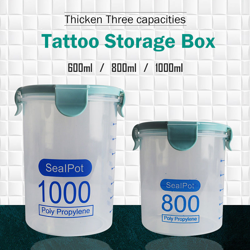 Permanent Makeup Storage Box Tattoo Sealpot Cotton Jars Plastic Pot Garbage Container For Tattoo Needle Ring Cup Supplies
