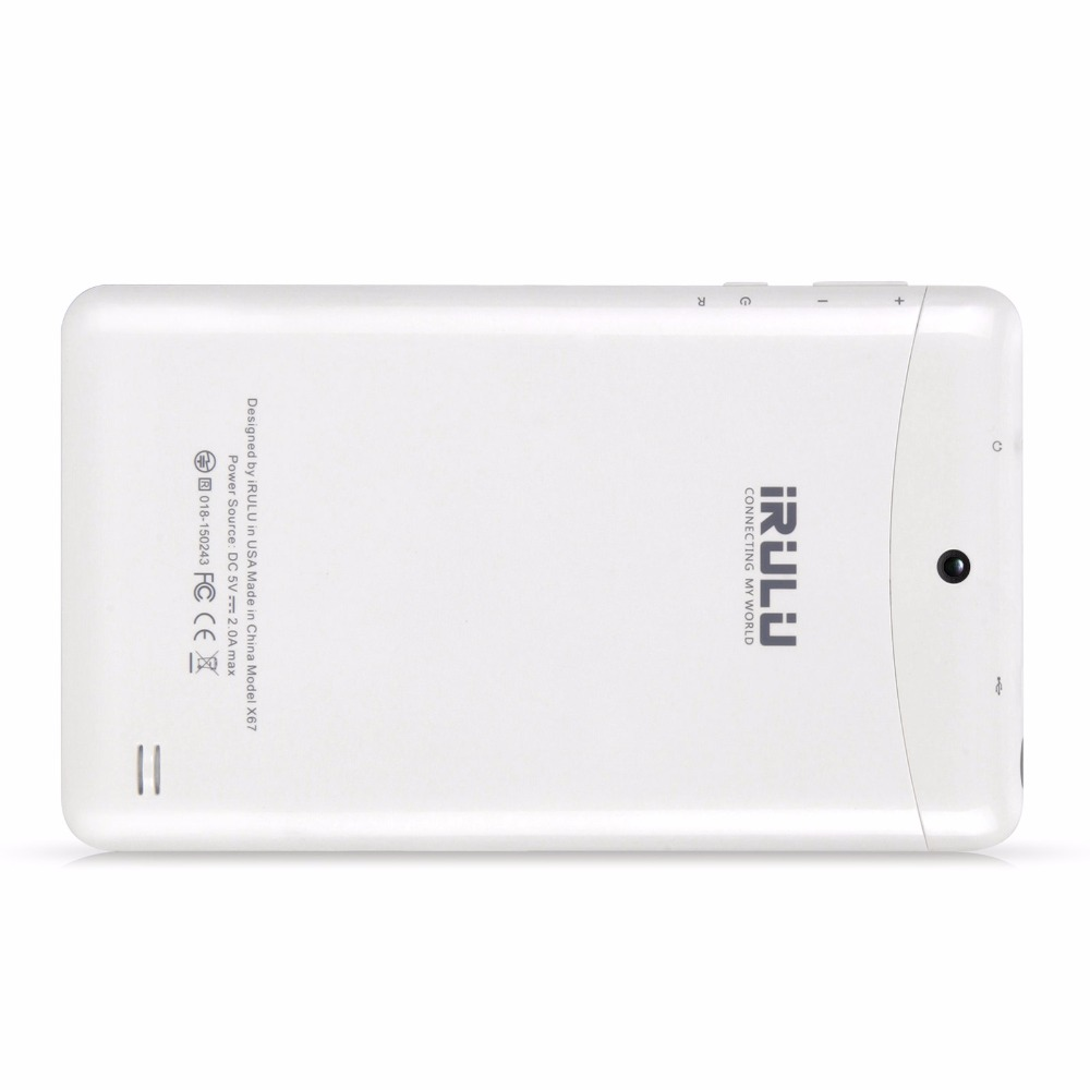 New Support 3G iRULU 7″ Tablet eXpro 6 GMS Certificated Android 7.0 1GB RAM 16GB ROM 1024 * 600 IPS Screen Tablet PC Bluetooth
