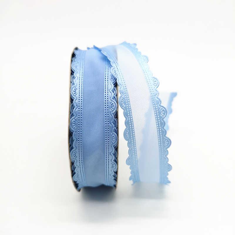 """5 מטרים 1 """"25mm סרט חתונה מסיבת קישוט אורגנזה גלישת מתנת סרט שיער קשתות DIY חג המולד סרט # SD30-42"""