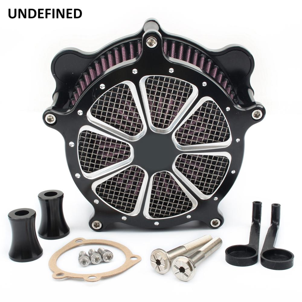Air Filter Motorcycle Venturi Contrast Cut Intake Air Cleaner System For Harley Dyna FXR 1993 2017