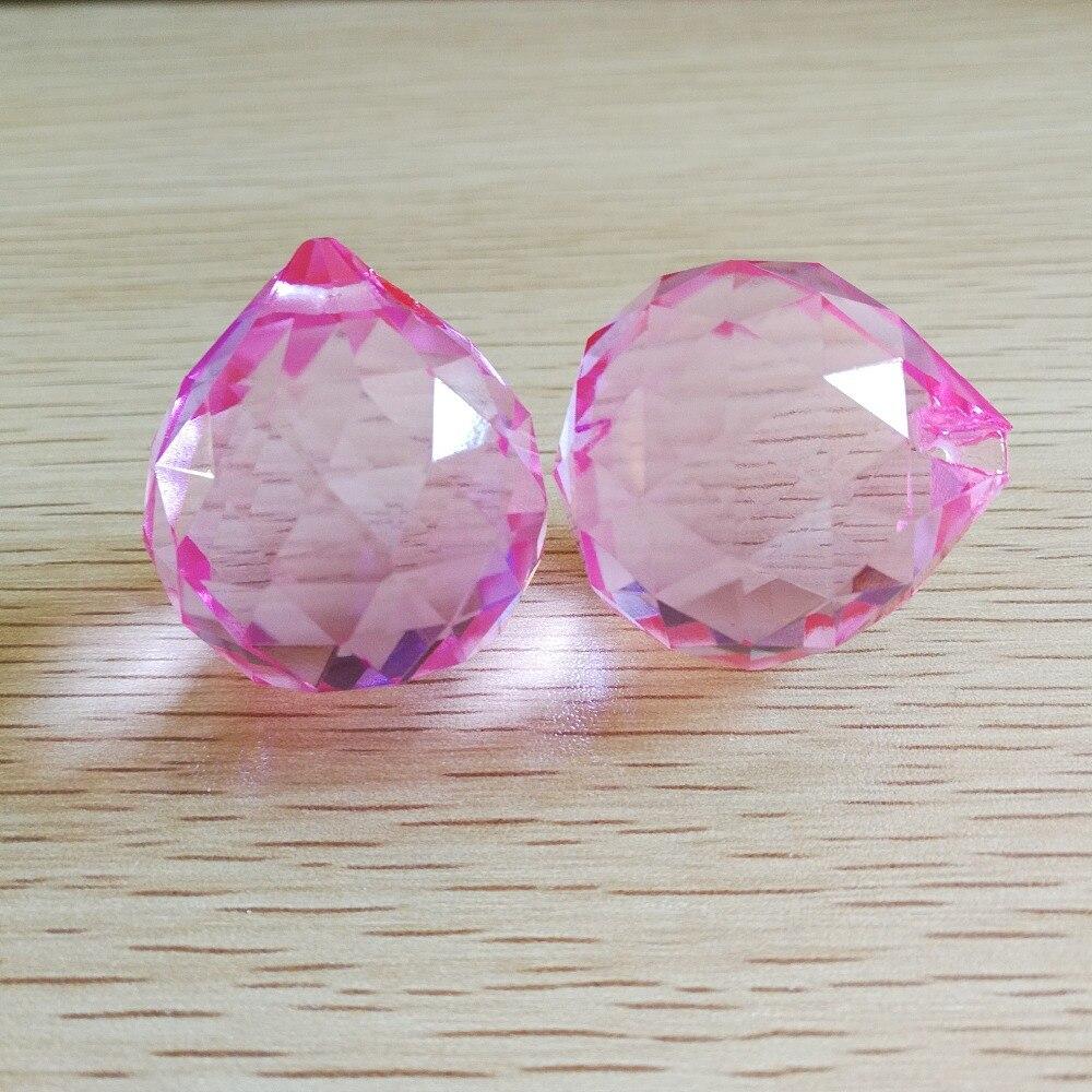༼ ộ_ộ ༽Розовый цвет 40 мм Бесплатная доставка хрустальная ...