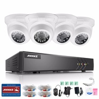 ANNKE HD 4CH CCTV System 1080P HDMI DVR 4PCS 720P 1200TVL IR Outdoor Security Camera System