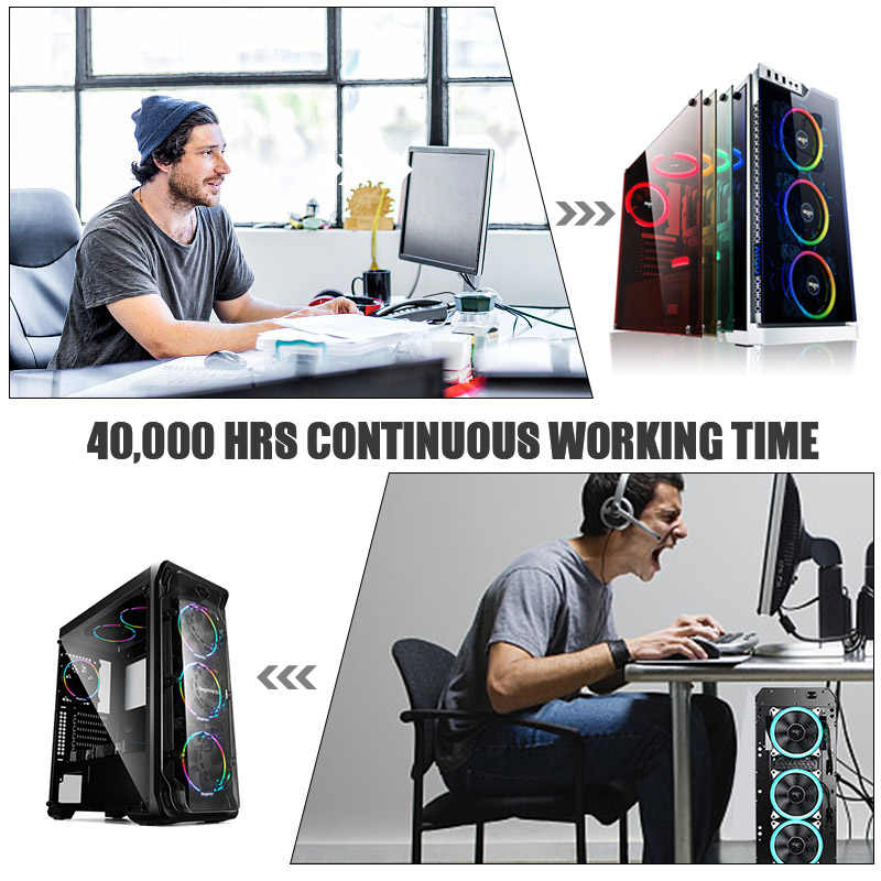 Aigo DR12 вентилятор корпуса компьютера 12 В Led Регулируемый охлаждающий вентилятор RGB с ИК-пультом дистанционного управления бесшумный 120 мм процессор кулер ПК геймер вентилятор