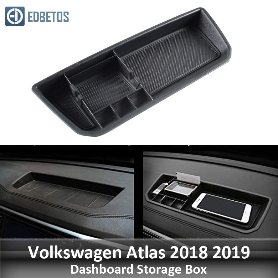 Teramont Dashboard Storage Box Organizer For Volkswagen Atlas 2018 2019 Interior Phone Holder Center Console Tray