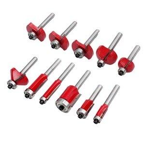 Image 5 - Juego de brocas para enrutador, vástago de 6mm, brocas para Punta de carburo de tungsteno, herramienta para carpintería, 35 piezas