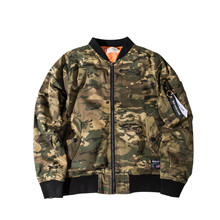 Camouflage Pilot Flight Military Bomber Jacket for Men
