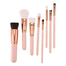 High-quality  Wooden Handle Makeup Brushes Set Professional  Foundation Powder Blush Eyeliner Eyeshadow Make Up Tools Kits 8 pcs
