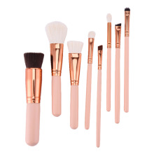 High-quality  Wooden Handle Makeup Brushes Set Professional  Foundation Powder Blush Eyeliner Eyeshadow Make Up Tools Kits 8 pcs