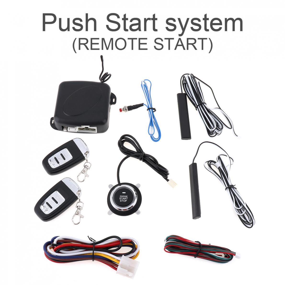 Smart Auto Car Alarm Engine Starline Push Button Start Stop RFID Lock Ignition Switch Keyless Entry System Starter Anti-theft easyguard pke car alarm system remote engine start stop shock sensor push button start stop window rise up automatically