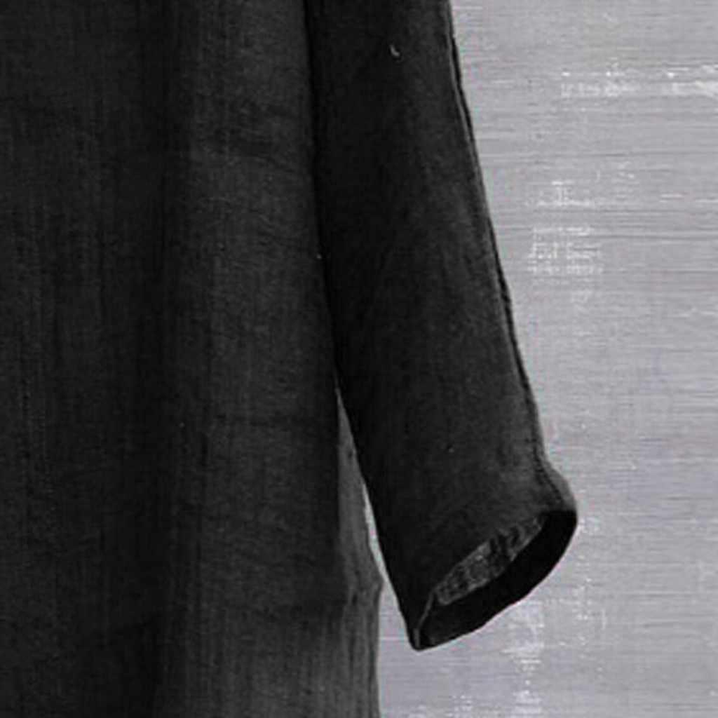Pria Kemeja Homme Hip Hop Singkat Bernapas Nyaman Warna Solid Lengan Panjang Longgar Kasual Kemeja Camiseta Masculina TEE SHIRT 2019