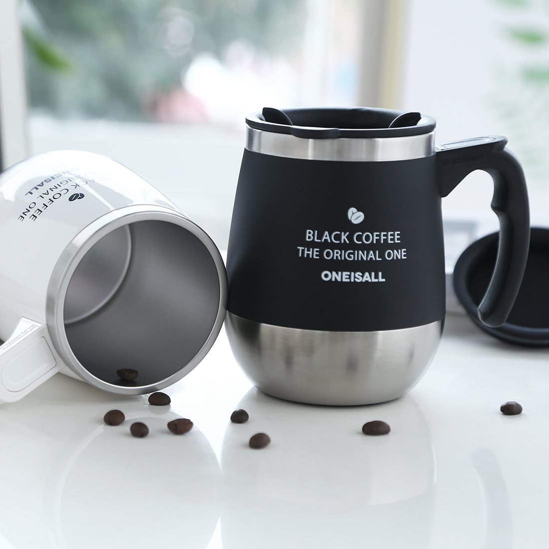 Majestic Product Coffee Mug Oneisall Coffee Travel Mug Stainless Steel Hot Milk Small Coffee Mugs Lids