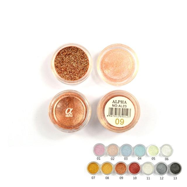 Amor ALPHA 13 colores sombra de ojos Flash polvo Super brillante perla brillante polvo Rosa diamante marca maquillaje