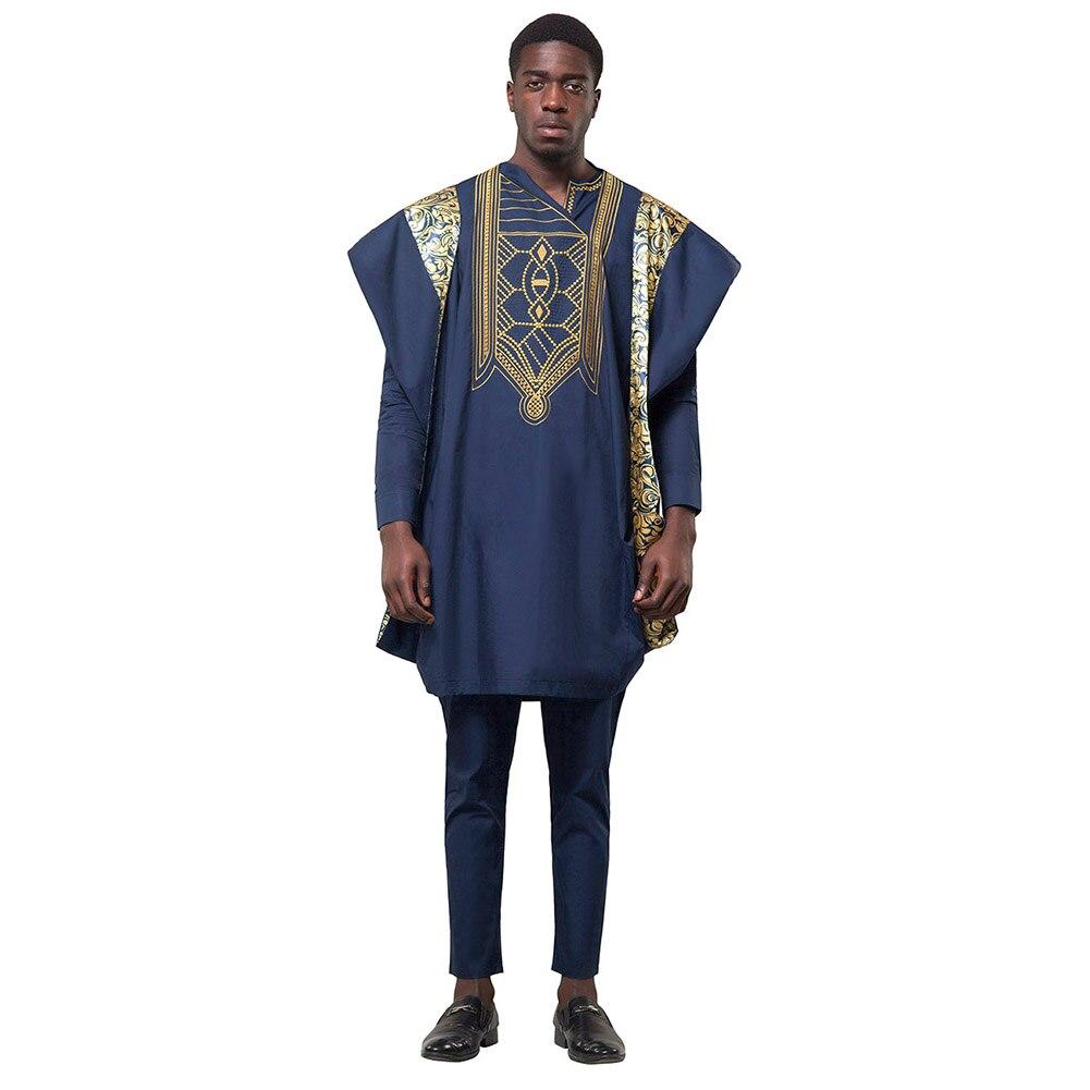 Grande taille 6XL vêtements pour hommes Africains Imprimé Floral Manches Longues Chemise décontracté Mince Ourlet Incurvé homme Chemises roupa africana